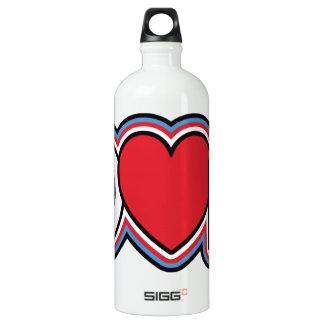 Música patriótica do amor da paz garrafa d'água de alumínio