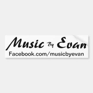 Música pelo autocolante no vidro traseiro Facebook Adesivo