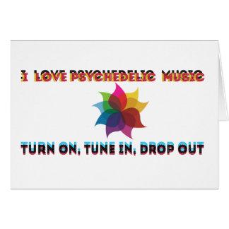música psicadélico cartão comemorativo