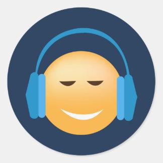 Música que ama etiquetas de Emoji Adesivo
