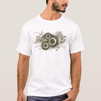 Música - redemoinho do auto-falante camiseta