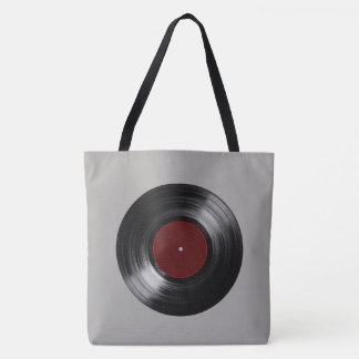 música retro do registro de vinil bolsa tote
