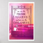 Música, sonhos, e memórias pôsteres