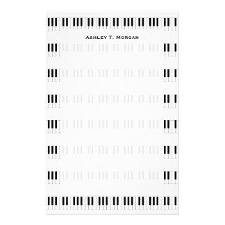 Música: Teste padrão do teclado de piano Papelaria