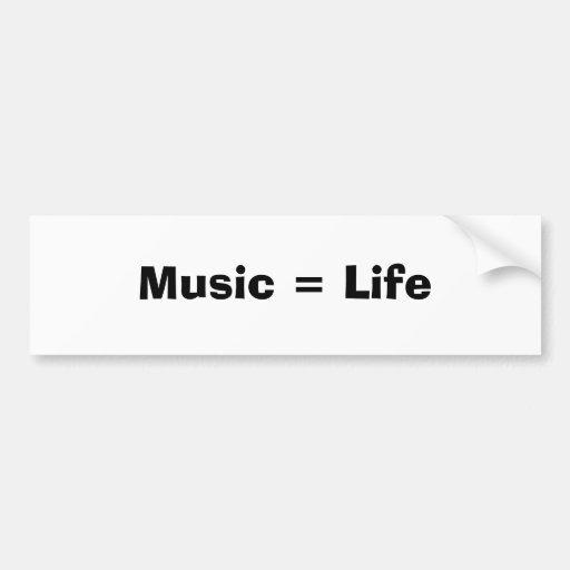 Música = vida adesivos