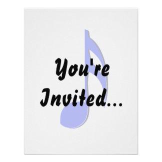 musical do preto azul de oitava nota convite
