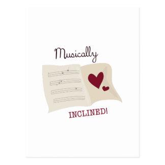 Musical inclinado cartão postal