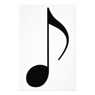 musical-nota preta papelaria