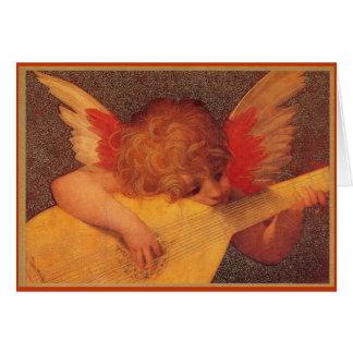 Músico angélico - Natal Cartão Comemorativo