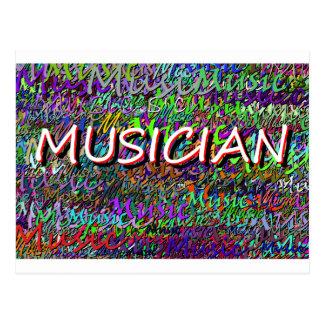 Músico Cartão Postal