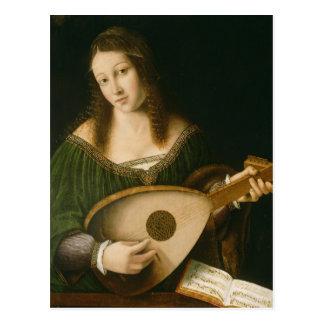 Músico clássico cartão postal
