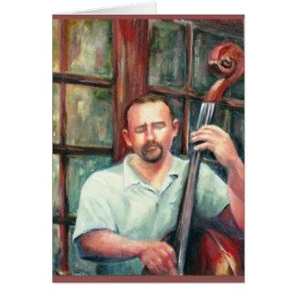 Músico de jazz cartão de nota