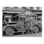 Músico de viagem, Veículo estranho, 1929 Cartão Postal