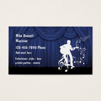 Músico do anfitrião cartão de visitas