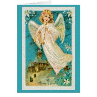 Músico do anjo do Natal Cartão Comemorativo