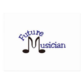 Músico futuro cartão postal