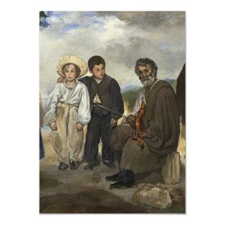 Músico idoso de Edouard Manet Convite 11.30 X 15.87cm