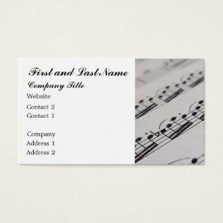 Músico profissional cartão de visitas
