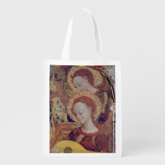 Músicos do anjo da pintura do Virgin e da criança Sacola Reusável