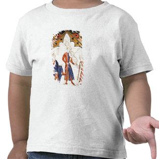Músicos que jogam uma viola e um pandeiro t-shirt