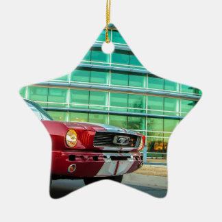 Mustang clássico ornamento de cerâmica estrela