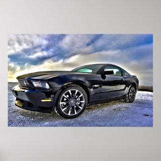 Mustang do carro do músculo do automóvel posteres