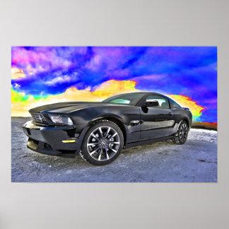 Mustang do carro do músculo do automóvel impressão