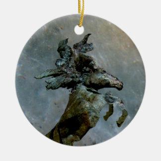Mustang do luar ornamento de cerâmica