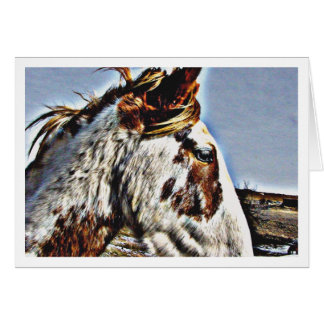 Mustang espanhol cartão comemorativo