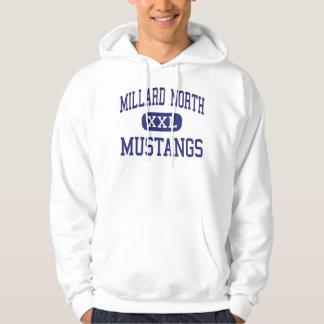 Mustang nortes Omaha médio Nebraska de Millard Moletom Com Capuz