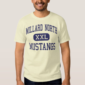 Mustang nortes Omaha médio Nebraska de Millard T-shirts