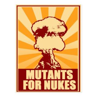 mutantes para armas nucleares cartão postal
