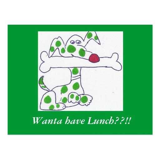 Mutz- Wanta tem o almoço??!! Cartão Postal