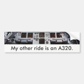 """My other ride a A320 is."" Autocolante de Adesivo De Para-choque"