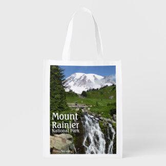 Myrtle cai (o Monte Rainier N.P.) com texto Sacola Ecológica