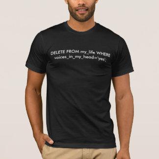 MYSQL: SUPRESSÃO do my_life ONDE voices_in_my_head Camiseta