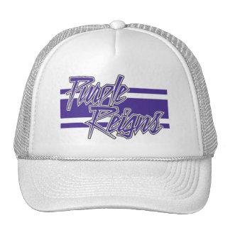 N-Listra roxa dos reinos em chapéus - Boné