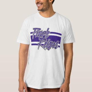 N-Listra roxa dos reinos na engrenagem dos homens Camiseta