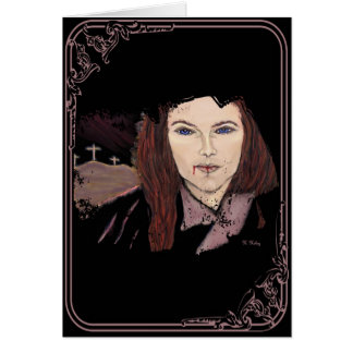 Na alma de um cartão do vampiro