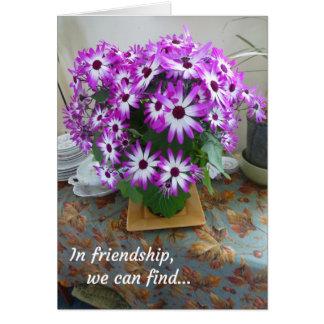 Na amizade, nós podemos encontrar… cartão comemorativo