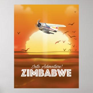 Na aventura! Poster de viagens de Zimbabwe