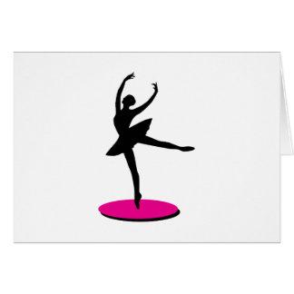 Na bailarina do dedo do pé cartao
