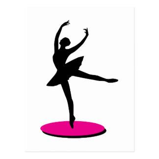 Na bailarina do dedo do pé cartão postal