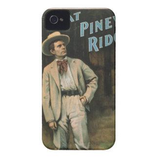 Na caixa piney da amora-preta da arte do vintage capinhas iPhone 4