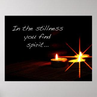 Na calma você encontra o espírito impressão