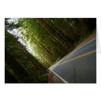 Na estrada cartão comemorativo