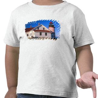 NA, EUA, Maine.  Farol ocidental de Quoddy próximo T-shirt