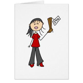 Na figura cartão da vara da compra da venda