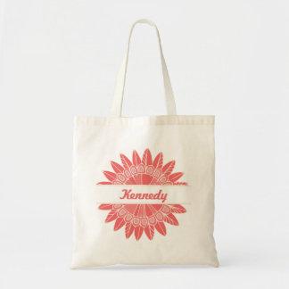Na flor completa o bolsa pequeno personalizado