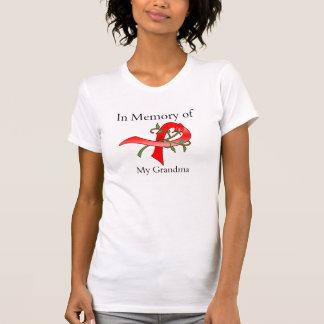 Na memória de minha avó - doença do curso t-shirts
